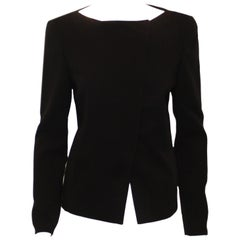 Akris Asymmetric Black Wool Jacket
