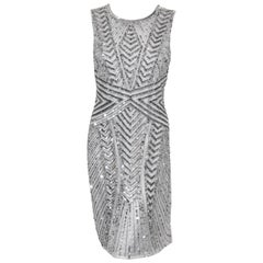 Adrianna Papell Fun Sequined Abstract Design Cocktail Dress
