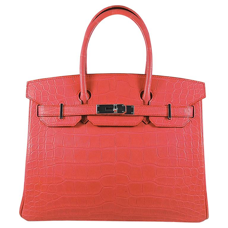 Hérmes 30cm Bougainvillier Mississippi Matte Birkin Bag For Sale