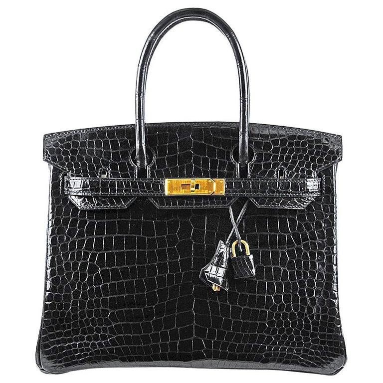 Hermes 30cm schwarz Birkin Tasche 1