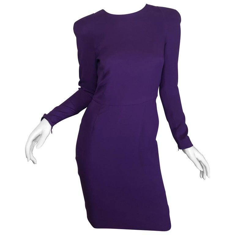 829eaea24172c Tom Ford Purple Silk Dress For Sale at 1stdibs