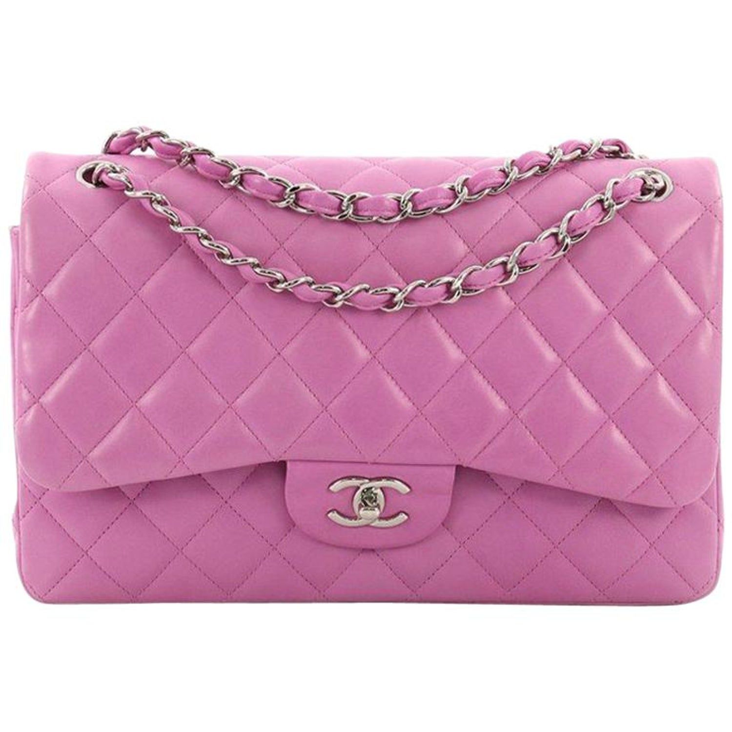 131c0add1c9e Chanel Classic Double Flap Bag Quilted Lambskin Jumbo at 1stdibs