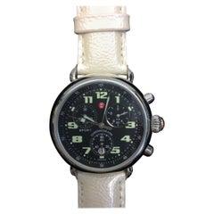 Michele Pearl White Wrist Watch
