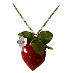 French Strawberry Statement Necklace