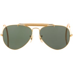 "B&L RAY BAN c.1970's BAUSCH & LOMB ""Outdoorsman"" Metal Frame Aviator Sunglasses"