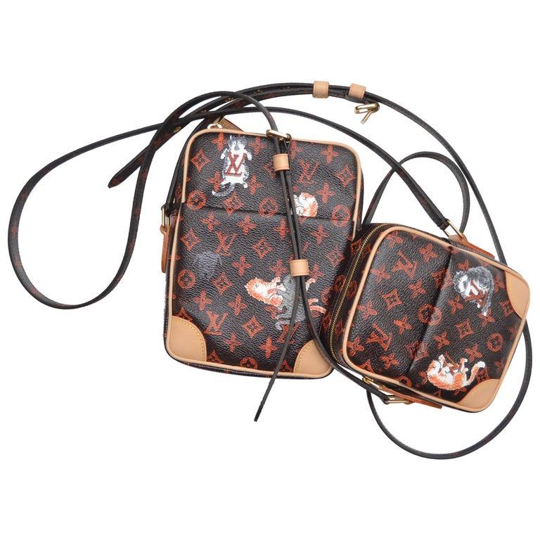 0d7a1c3078bc Louis Vuitton Catogram Paname Set Two Handbags Grace Coddington NEW For Sale