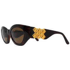 Gianni Versace Medusa Brown Sunglasses Mod 420/D Col 900