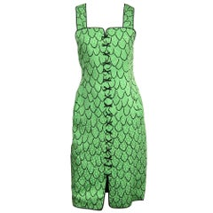 Geoffrey Beene Trompe L'oeil Green Dress New with tags