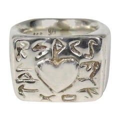 Sterling Silver Robert Lee Morris Heart Ring 1990s