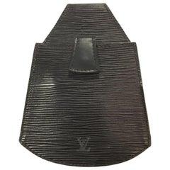 Rare 1992 Louis Vuitton Black Epi leather Sherwood Beltbag