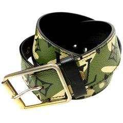 41030e55249f Louis Vuitton Camouflage (Ultra Rare) Camo Monogram Monogramouflage 227179  Belt