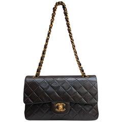 "Chanel ""Timeless"" brown lambskin bag"