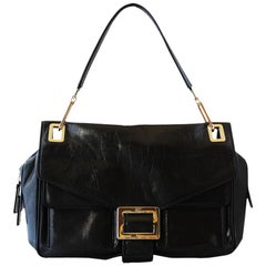 Roger Vivier Black Leather Bag