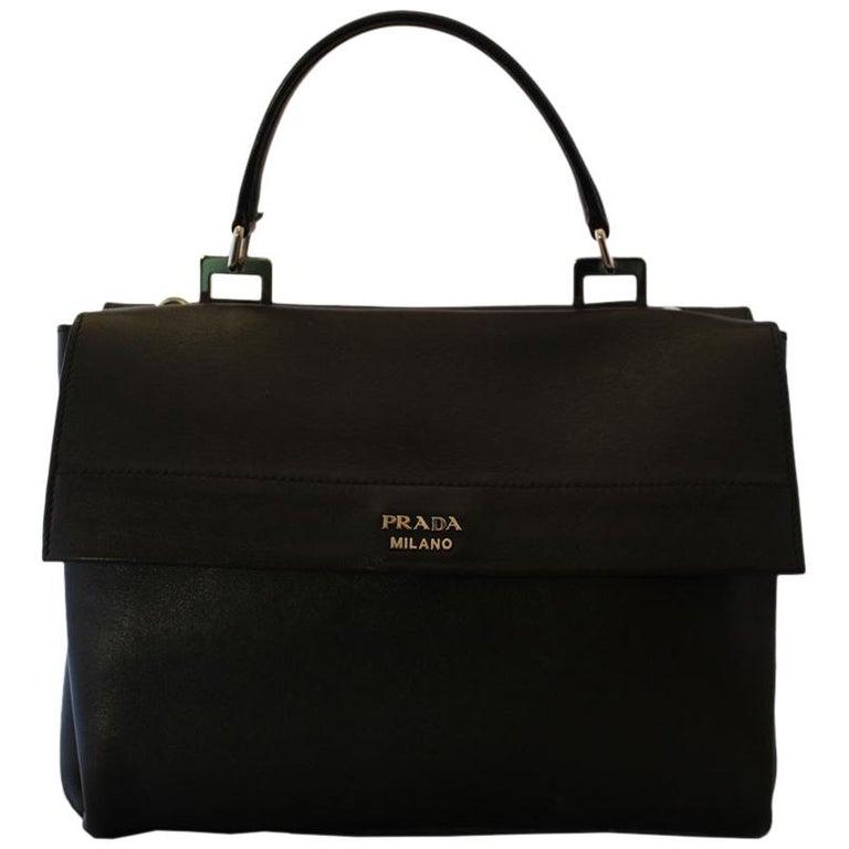 Prada Black Leather Bag For Sale