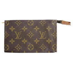 Louis Vuitton Brown Poche Monogram Zip Toiletry Pouch Lvty10 Cosmetic Bag