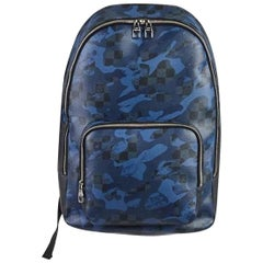 Louis Vuitton Damier Cobalt Camouflage Andy 3lva1020 Black X Navy Blue Backpack