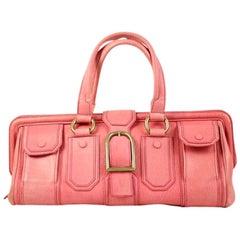 Céline Ella Long Doctor's Cesl27 Pink Leather Satchel