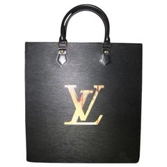 Louis Vuitton Sac Plat Fusion Fire Led Elvlm19 Black Leather Satchel