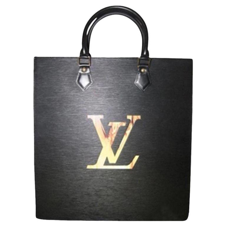 7b7351c65c7b9 Louis Vuitton Sac Plat Fusion Fire Led Elvlm19 Black Leather Satchel ...