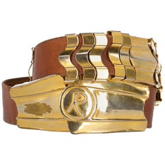 1960s Roberta Di Camerino Leather Vintage Belt