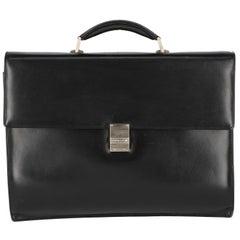 1990s Montblanc Black Leather Briefcase