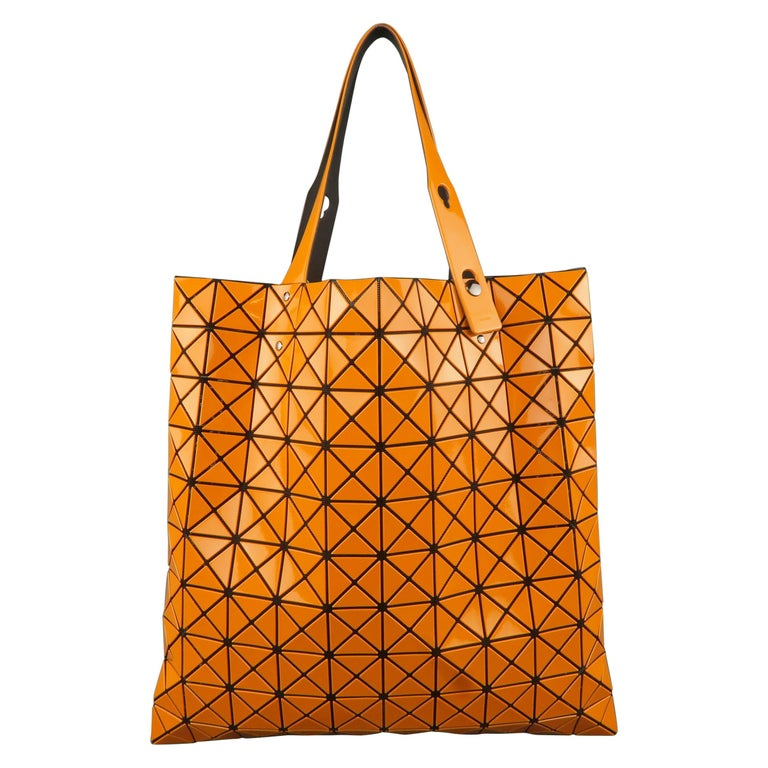 c820333c7e66 BAO BAO ISSEY MIYAKE Orange Geometric PVC Mesh Lucent Tote at 1stdibs