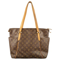 Vintage LOUIS VUITTON Brown Monogram Canvas Totally PM Tote Bag