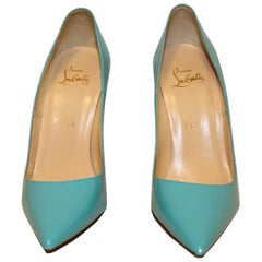 "Christian Louboutin ""So Kate"" Turquoise Patent Leather Pumps"