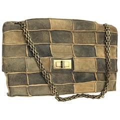 Chanel Patchwork Suede Bag 1998