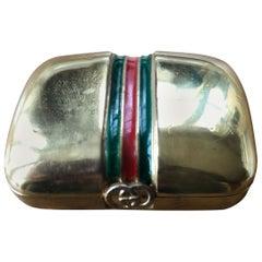 Gucci Vintage 70's Enamel Stripe Pillbox in Original Gucci Box