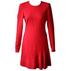 Alexander McQueen Long-Sleeve Frill Dress