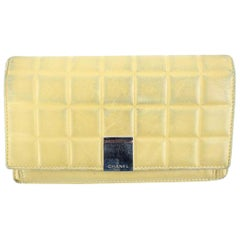 Chanel Beige Quilted Chocolate Bar 30cca41017 Wallet
