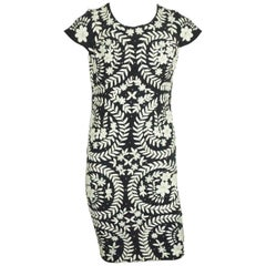 Mikael Aghal Black and White Embroidery Floral Dress - 6