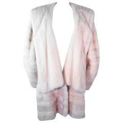 GALANOS Oversize White Mink Coat