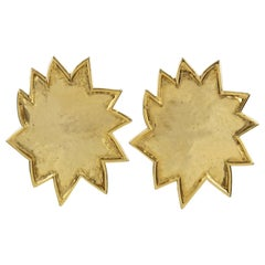 Edouard Rambaud Clip Earrings Oversized Sun