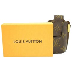 Louis Vuitton Brown Monogram Etui Mobile Case 27lva3117