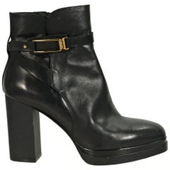 Black Tod's Leather Ankle Boots