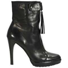 Black Stuart Weitzman Leather Ankle Boots