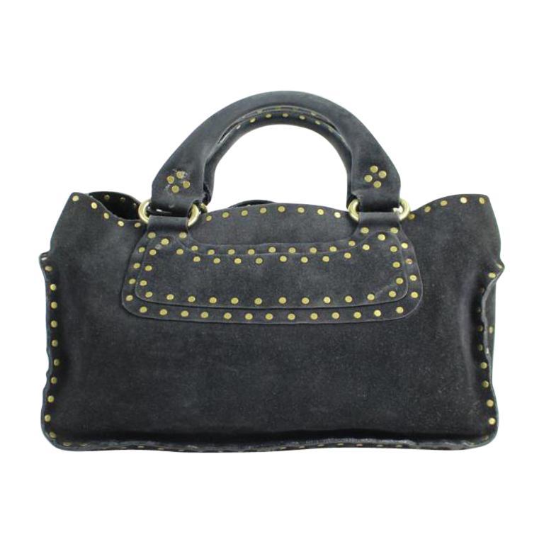 b1a204c2fa Céline Boogie ( Rare ) 35cela12317 Black Suede Leather Satchel For Sale at  1stdibs