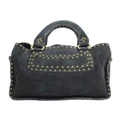 Céline Boogie ( Rare ) 35cela12317 Black Suede Leather Satchel