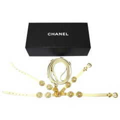 Chanel Gold Adjustable Camellia Harness & Leash 213330