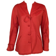 Chado Ralph Rucci Coral Cashmere Jacket