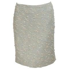 Multicolor Pastel Chanel Tweed Pencil Skirt
