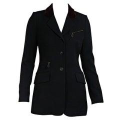 Black Vintage Hermes Wool Blazer
