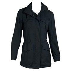 Navy Blue Loro Piana Windbreaker Jacket
