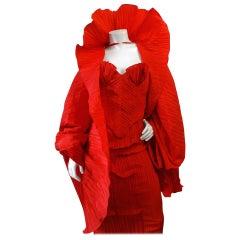 1980s Bernard Perris Couture Silk Crepe Cape