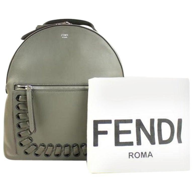 46e104bbdf4e Fendi 56ffa2617 Grey Calfskin Leather Backpack For Sale at 1stdibs
