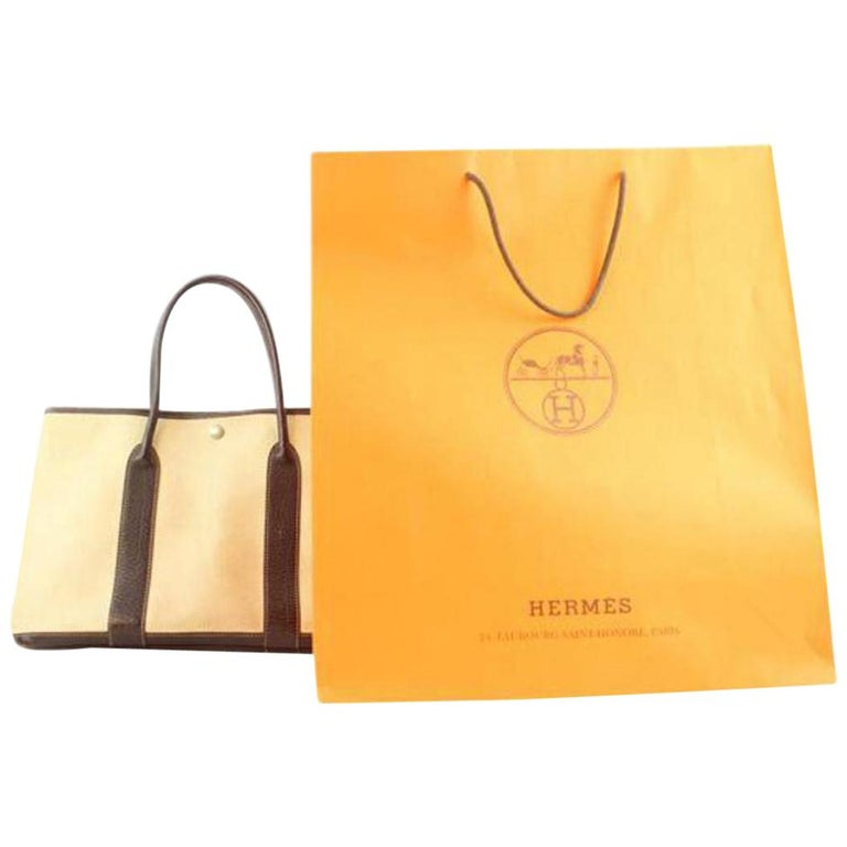 Hermès Garden Party Bordeaux 213827 Brown Tote For Sale at 1stdibs a49e53b0a0558