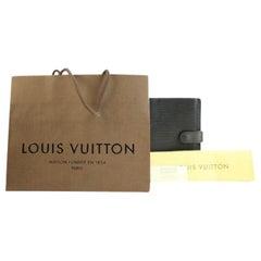Louis Vuitton Black Epi Leather Agenda Pm 48lva12317