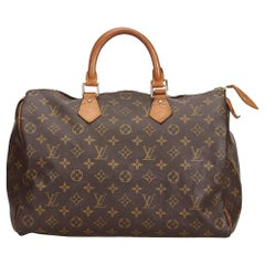 Louis Vuitton Brown Monogram Speedy 35